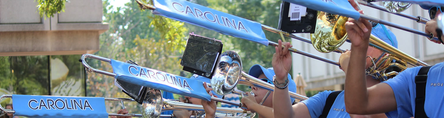 Band playing trumpets