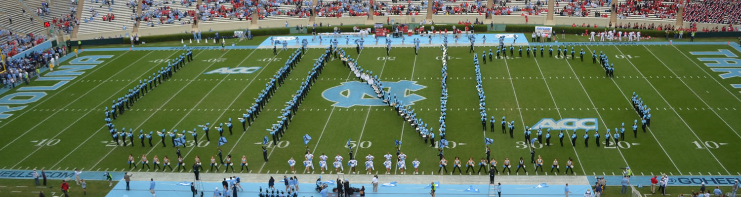 UNC Bands Marching in Formation